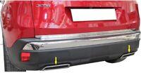 Peugeot 3008 II 2016-2019 Chrome échappement Déflecteur Cadre 2 pcs Inoxydable