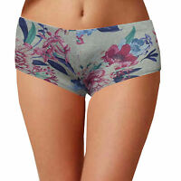 Womens low waist boxer hot pants ladies boy shorts knickers size 6 8 10 12 14