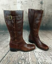 Tall Woman's Leather Boots, Motorcycle, Riding, Fashion 9.5 M Rubber sole