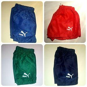 *RARE* Puma Vintage Shorts Shiny Running Football Retro Sprinter Germany 70 80's