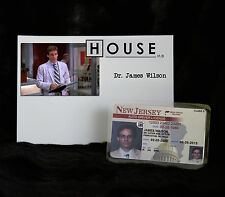 """TV SERIES HOUSE MD EXACT REPLICA COLLECTOR PROP """"JAMES WILSON"""" DRIVERS LICENSE"""