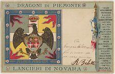 DRAGONI DI PIEMONTE - LANCIERI DI NOVARA - ALBIS ARDUA 1901
