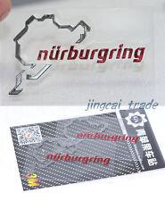 Pair (2 pcs) Polished Chrome Nurburgring Motor Sport Car Emblem Sticker Decal