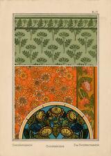 Maurice Pillard Verneuil Art Nouveau Chrysanthème La Plante Grasset Lithographie