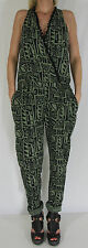 PLEASE Overall Jumpsuit Catsuit Bodysuit Neu Gr.S Made in Italy Atzteken Muster