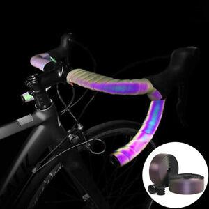 Road Bike Noctilucent Handlebar Light Reflective Bar-Tape Bicycle Fork Grip Tape