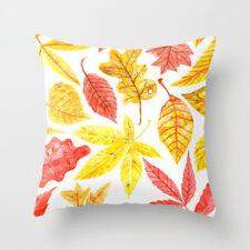 amarillo blanco Funda de almohada cubierta del amortiguador del sofá cubrir caso