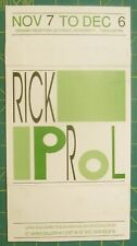 RICK PROL 1987 Exhibition Announcement, ST. Marks Gallery, New York