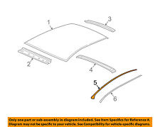 Chevrolet GM OEM 04-08 Malibu Roof-Reveal Molding Left 15263357