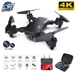 NEW drone 4k HD wide-angle dual camera WIFI FPV positioning height keep Drone.