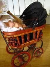 Poupée ancienne, landeau de poupée