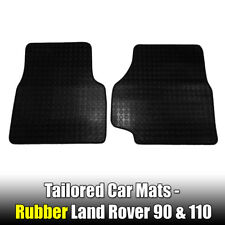 Rubber Car Mats Land Rover 90 & 110 DEFENDER 1983>1990 Tailored 2 PCE