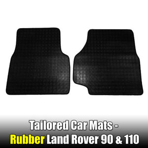Land Rover 90 & 110 DEFENDER Rubber Mats 1983 1990 Tailored 2 PCE Landrover