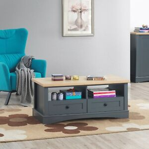 Carden Home Grey Coffee Table with 2 drawers