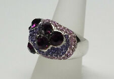 > Womens Size 7 - >New< Purple Sparkling Crystal Stone Silver Ring Fashion