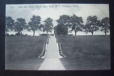 BEN MAC DHUI, Summer Home of JOHN ALEX. DOWIE, Montague, MI postcard, circa 1906