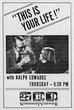 1971 WISCONSIN TV AD~BETTE DAVIS THIS IS YOUR LIFE~RALPH EDWARDS~MADISON~LaCROSS