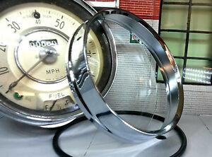 Chrome Bezel Trim & Glass Morris Minor BMC Traveller Saloon Centre Smiths Speedo