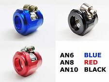 AN6 AN8 AN10 HOSE END FINISHER JUBILEE CLIP CLAMP OIL WATER FUEL RED BLUE BLACK