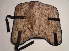 Saddle pads with two colors piping all around poly-fill padding