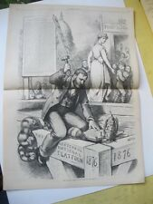 Vintage Print,THE PLANK,Thomas Nast,Harpers,Oct 1875