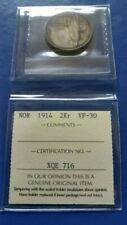 1814 NORWAY 2 Kroner Silver Coin Haakon VII ICCS VF-30