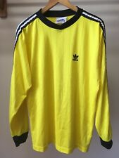 VIntage 90's adidas Mens Large Soccer Goalie Jersey Trefoil Yellow w/Black/White