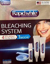 Rapid white Bleaching System 4 Stufen hellere Zähne in 1 Woche Zahnweiss Bleach