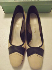 "Vintage Ladies Shoes Paradise Kittens ""Tourist"" Spectator Pumps Navy & Cream"