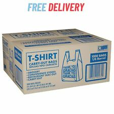 T Shirt Thank You Carry Out Bags 115 X 65 X 22 1000 Ct Free Shipping