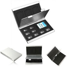 Metal Micro SD TF Memory Card Storage Wallet Carrying Case Holder Protective Box