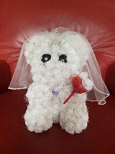 Bride Rose bear 20cm