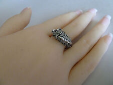 925 Sterling Silver ring (plated) Size 9 (fish) Womens quality jewellery #9