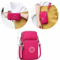 Handmade Fashion Cross-body Printed Shoulder Bag Cellphone Coin Purse Polyester
