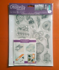 Docrafts A5 Clear Stamp Set (16pcs) Steampunk - Vintage Art