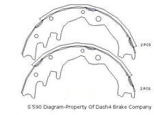 Drum Brake Shoe-Dash4 Rear Dash 4 Brake B590