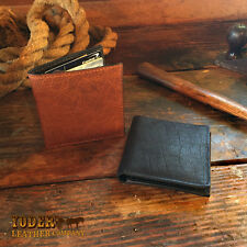 Jumbo Hipster Bifold Wallet Amish Handmade Leather in Black or Brown