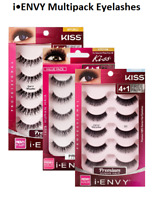 KISS I ENVY Multi Pack 3D Eyelashes 100% Human Remy Hair 5pc Demi Wispies