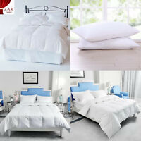 NEW LUXURY HOTEL QUALITY GOOSE FEATHER & DOWN DUVETS QUILT PILLOW PAIR 13.5 TOG