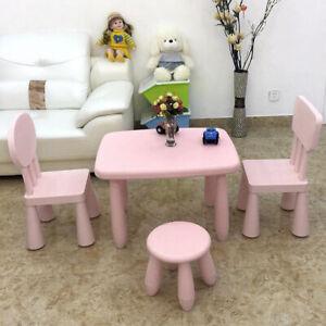 Childrens Kids Indoor Outdoor Chair Stool 12 Inch Durable Plastic Seat