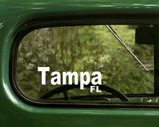 2 TAMPA DECALs Florida Sticker For Car Truck Bumper Window Rv Jeep Laptop 4x4
