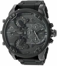 NEW DIESEL DZ7396 BLACK MENS MR DADDY 2.0 57MM CHRONOGRAPH WATCH