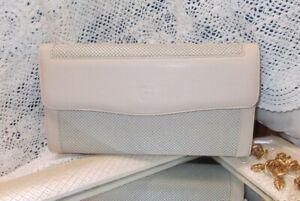Vintage GLOMESH Clutch Bag - Cream mesh. Excellent cond. EXPRESS POST.