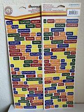 School Sticker ELEMENTARY School Card Making Scrapbooking Words