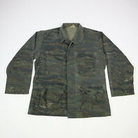 Vintage Tiger Stripe Camo Military Uniform Jacket size MEDIUM