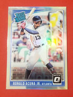 2018 Donruss Optic Ronald Acuna Jr Rated Rookie Holo Prizm Atl Braves FREE SHIP