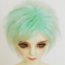 "Green 9-10"" 24cm plush short Wig For 1/3 24"" 60CM Male BJD SD DK DZ Doll"