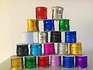5M Laser Flat Sequin String 6mm Trim Lace Braid Ribbon Mask Craft Dance Costume