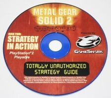 Metal gear Solid 2 Sons of Liberty Totally Unauthorized Guide CD Only PS2