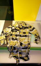 Jean Vincent Detente loungewear shirt funky pattern men's size M Canadian design